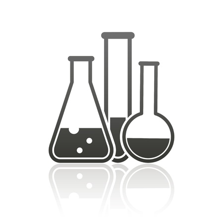 science chemistry: laboratory equipment icon Illustration