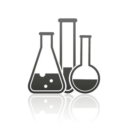 Laborgeräte icon Standard-Bild - 21062369