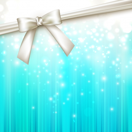 holiday blue background with white bow