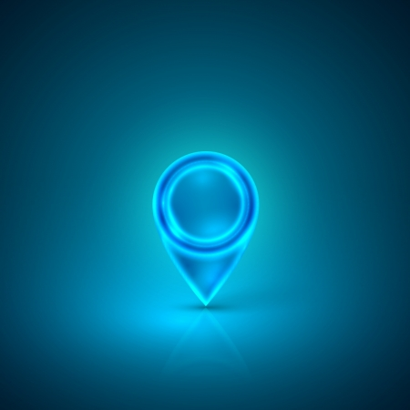 blue abstract: blue map marker Illustration