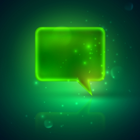 illustration with green speech bubble Vector