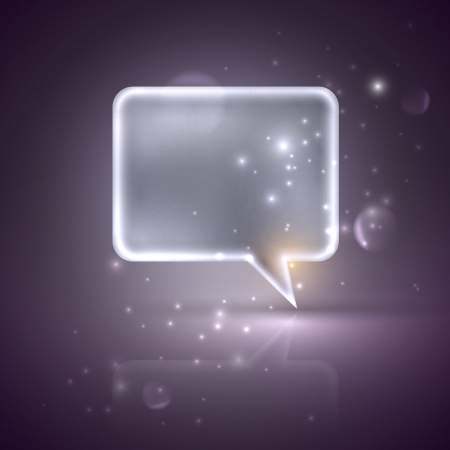 illustration with silver speech bubble Vector