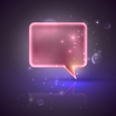 illustration with pink speech bubble Vector
