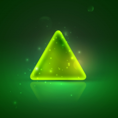 illustration with shiny green triangle  Vector