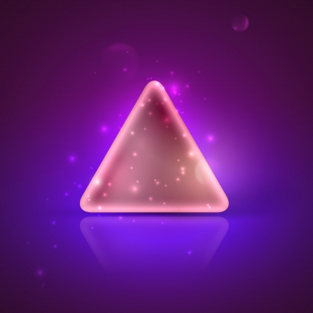illustration with a shiny triangle  Vector
