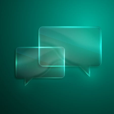 abstract background with glass transparent speech bubbles Vector