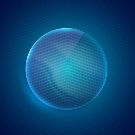 abstract blue background with glass transparent sphere Stock Vector - 21432226