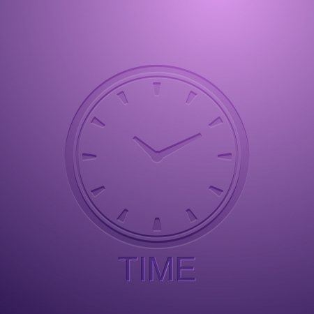 background with clock icon Stock Vector - 21432229