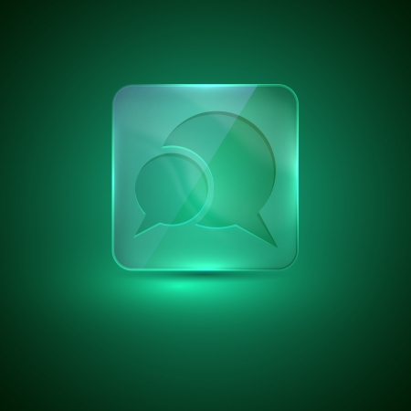 nacre: glass icon with speech bubbles