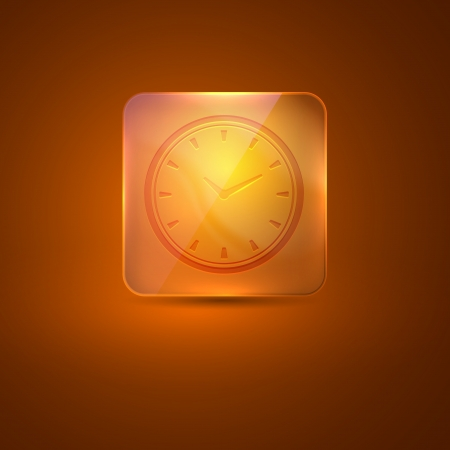 nacre: glass icon with clock sign