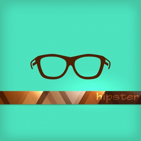 illustration with eyeglasses Stock Vector - 22035798