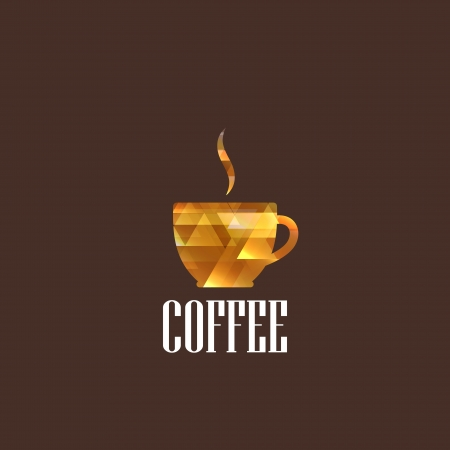 illustration with diamond coffee cup Vector