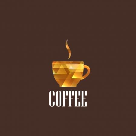 barista: illustration with diamond coffee cup