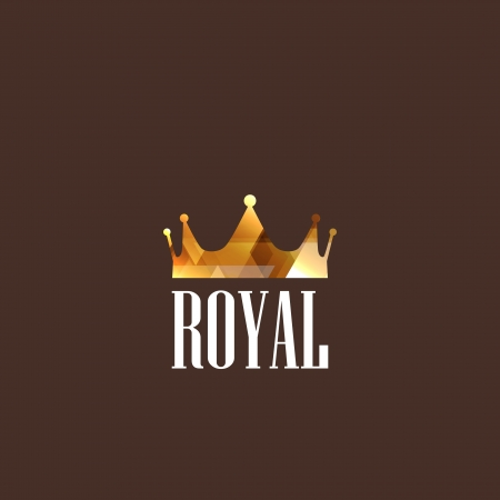 crown king: illustration with diamond crown
