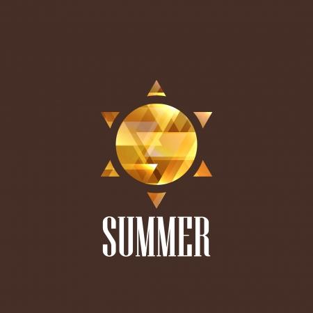 illustration with diamond the sun icon Stock Vector - 22035853