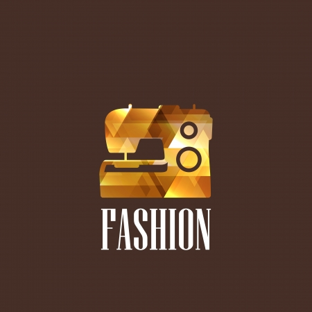 illustration with diamond sewing machine Vector