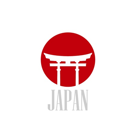 japanese temple: illustration with japan gate