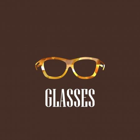 illustration with diamond eyeglasses icon Stock Vector - 22035892