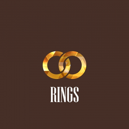 forever: illustration with diamond rings icon Illustration