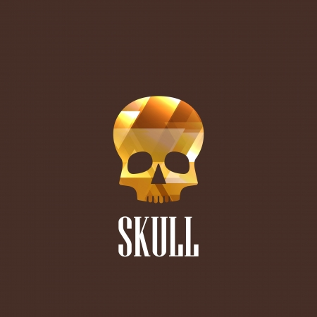 dreadful: illustration with a skull icon Illustration