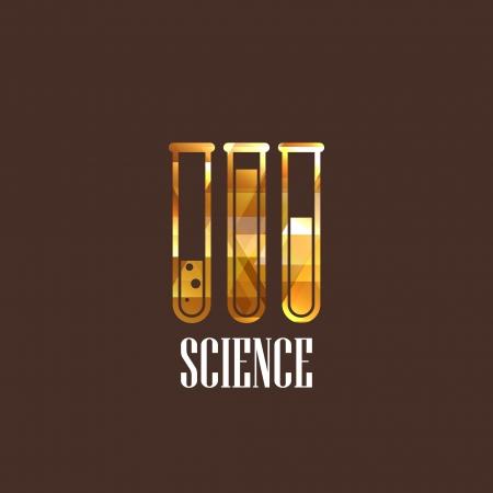 illustration with laboratory equipment icon