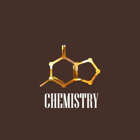 illustration with molecular icon  chemistry concept Vector