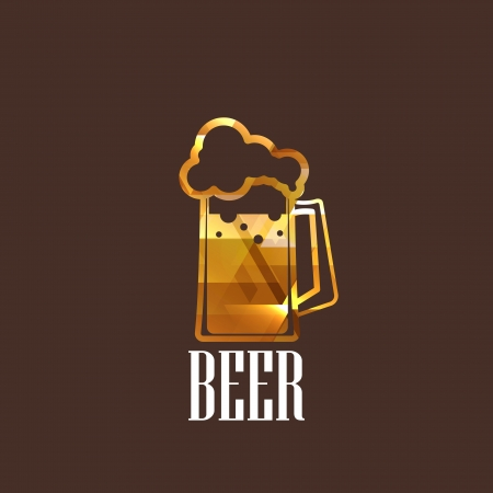 illustration with a beer glass icon Vector