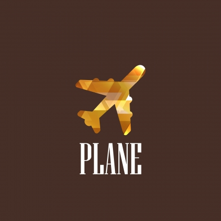 illustration with plane icon Stock Vector - 22028714