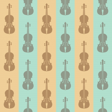 fiddle: seamless vintage background with violins