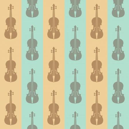 violins: seamless vintage background with violins