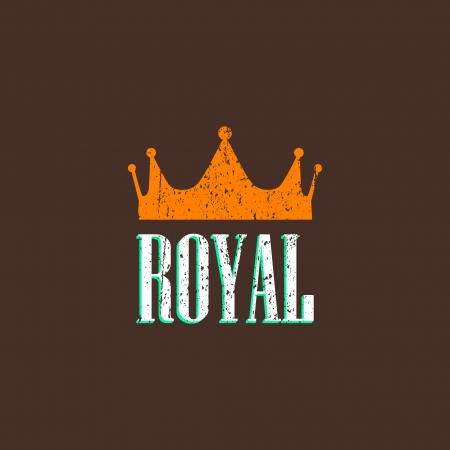 vintage illustration with a crown Vector