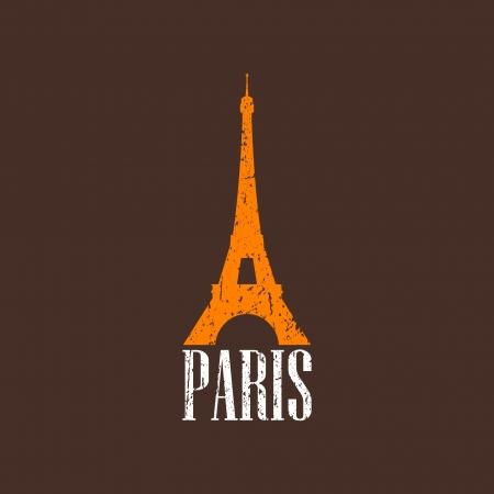 showplace: vintage illustration with Eiffel tower Illustration