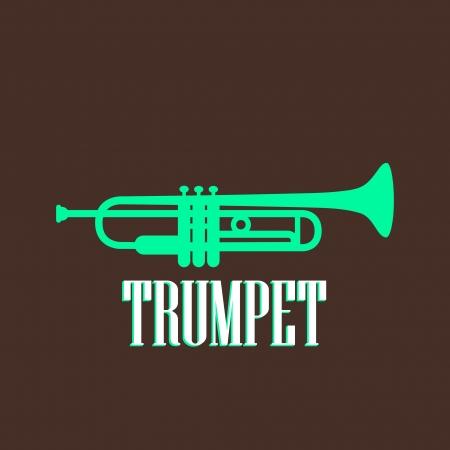 vintage illustration with the trumpet Illustration