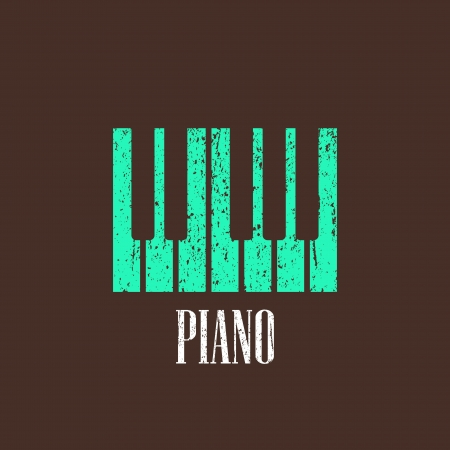 vintage illustration with the piano Stock Vector - 22030361