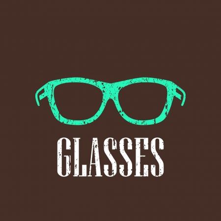 spec: vintage illustration with eyeglasses