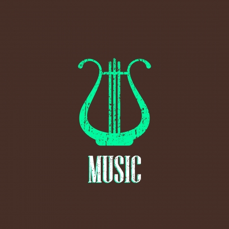 vintage illustration with the harp Stock Vector - 22028540