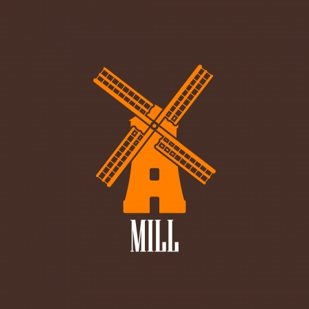 traditional windmill: illustration with a mill Illustration