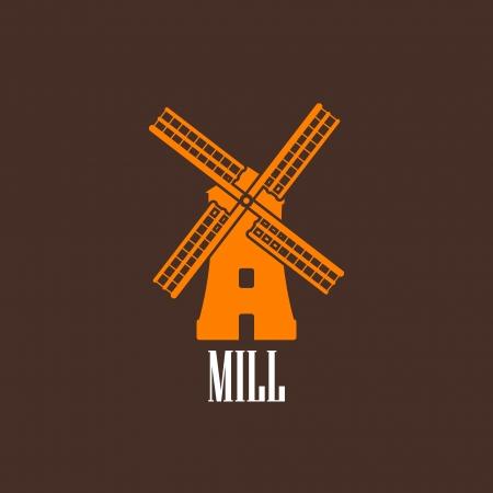 MOLINOS DE VIENTO: ilustración con un molino Vectores