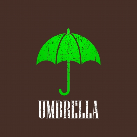 vintage illustration with an umbrella Stock Vector - 22028554