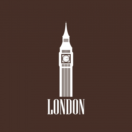 illustration with big ben icon Stock Vector - 22028557