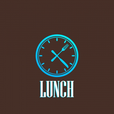 cooking time: illustration with lunch time icon Illustration