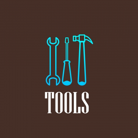 toolkit: illustration with a tool set Illustration