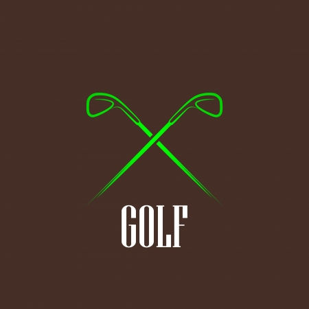 vintage illustration with a golf drivers Vector