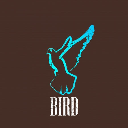 vintage illustration with a bird Stock Vector - 22290580