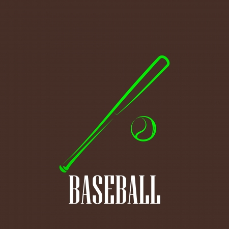 vintage illustration with a bat and a ball  baseball symbol Stock Vector - 22290578
