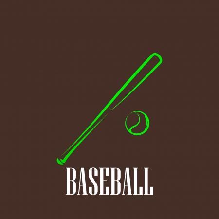 vintage illustration with a bat and a ball  baseball symbol Stock Vector - 22290578