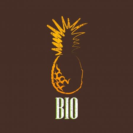 uitstekende illustratie met ananas Stock Illustratie