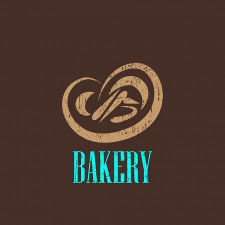 bakery sign: ilustraci�n de la vendimia con un signo de panader�a Vectores
