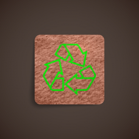 recycle label with cardboard texture Vector