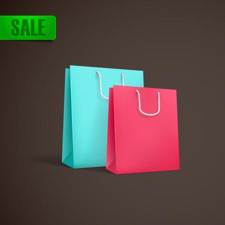 unprinted: coloridas bolsas de la compra